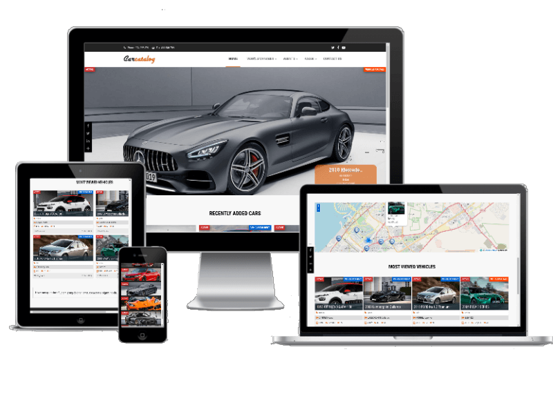 Car Catalog - Automotive website template