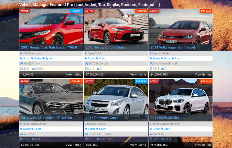 category top sales in car showroom template