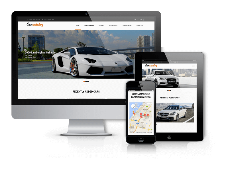 Top Automotive Website Template - Car Catalog