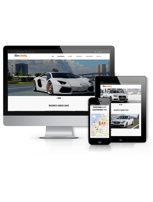 Automotive website template Car Catalog
