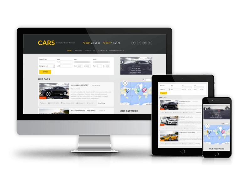 free car template cars ordasoft