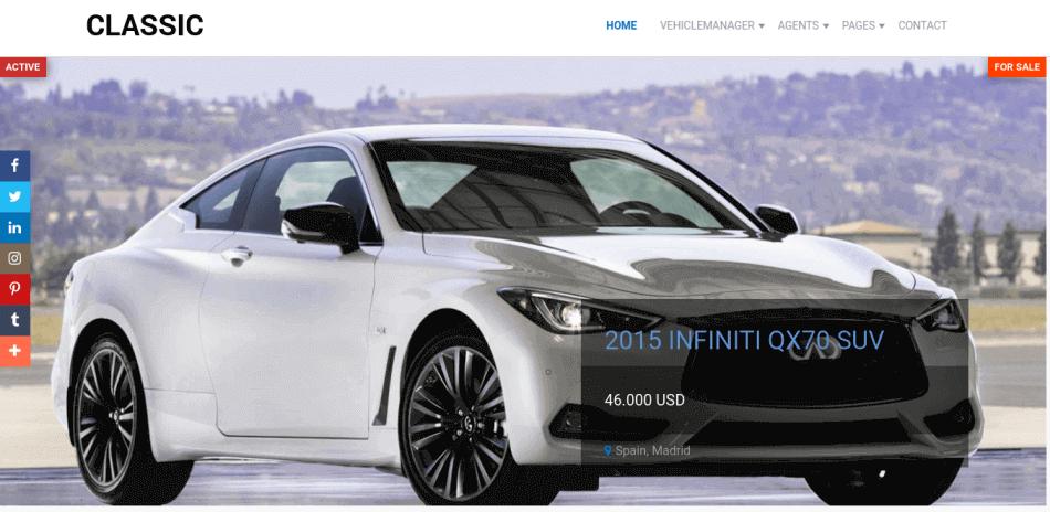 car slideshow on main page automotive web template