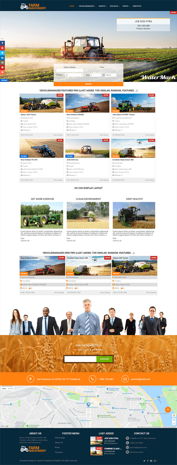Farm Machinery - agriculture website design