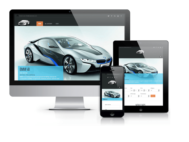 Similar Joomla Vehicle Templates Autoseller Car Dealer Website Design