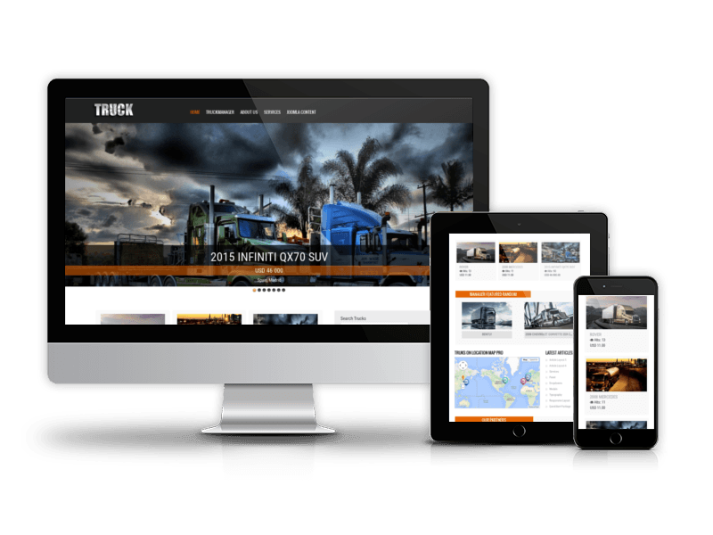 hard truck transportation joomla template car templates joomla