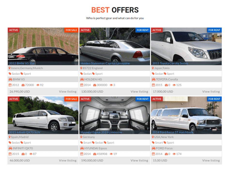 best luxury car offers , limo rental services web template