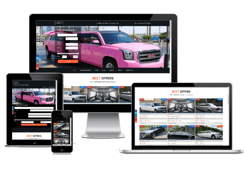 Luxury car rental, limo website template