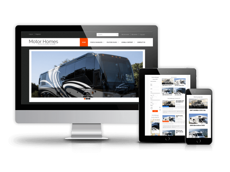 Joomla Car Dealer template Motorhomes