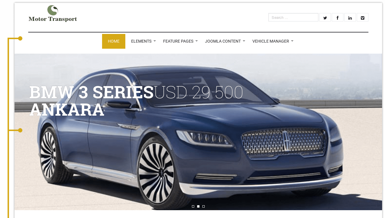 Motor Transport - Car Dealer Website Design