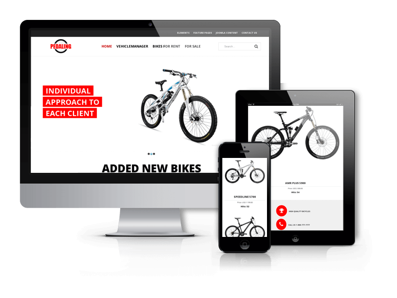 Bike Joomla template Pedaling