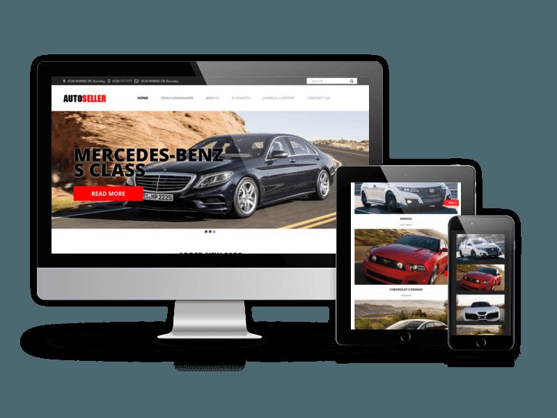 responsive car dealer website design