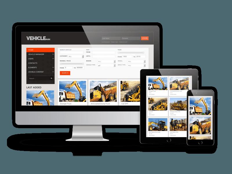 responsive car rental website design