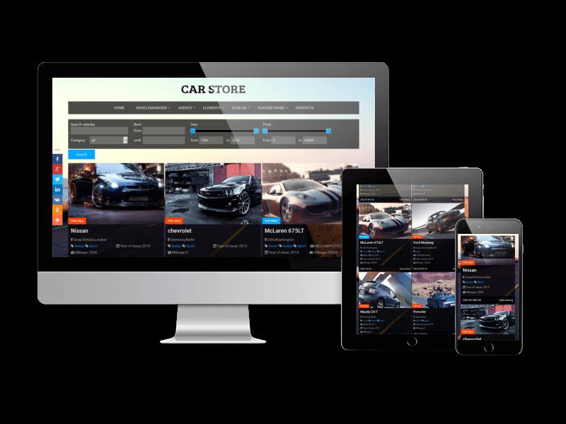 responsive car showroom website design