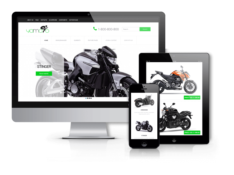 Motorcycle website template Yamoto