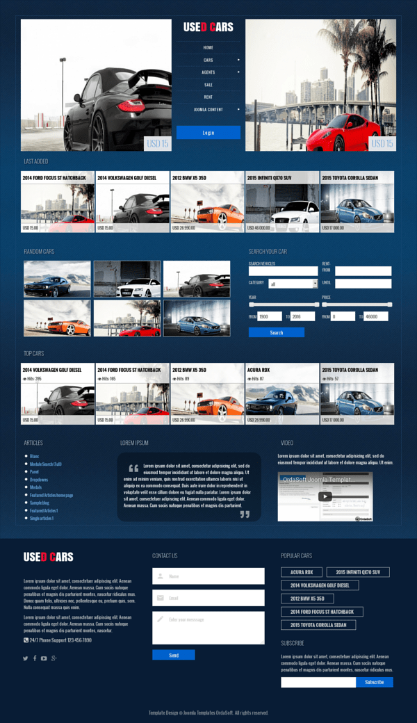 Used Cars - Car Automotive Joomla template