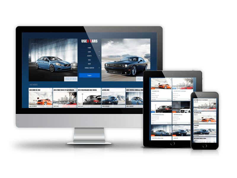 Used Cars, automotive Joomla template