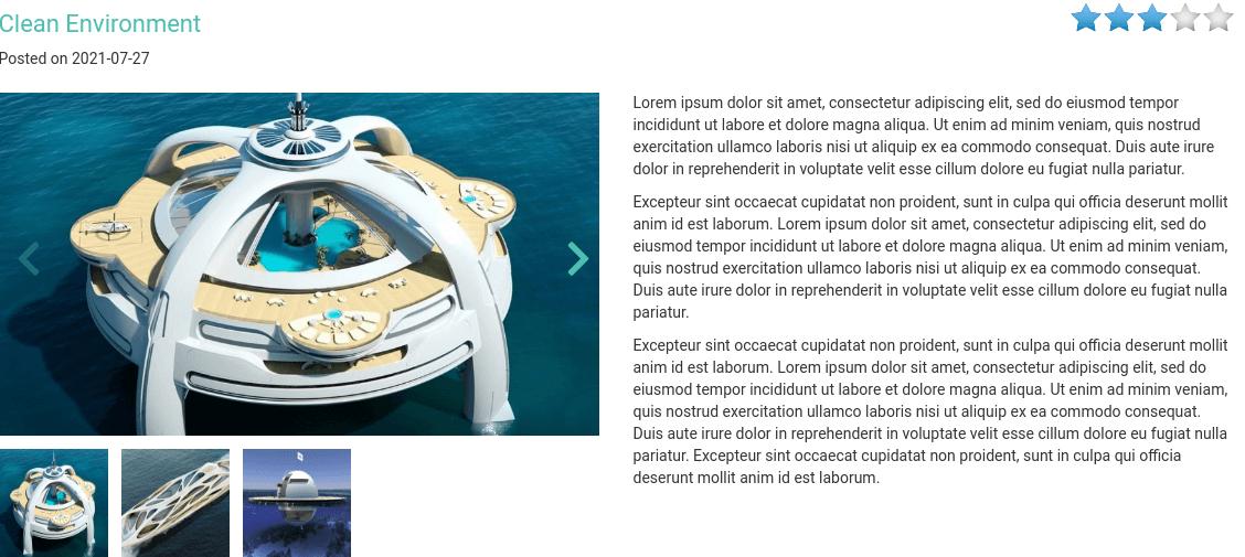 Yacht Website Template blog post