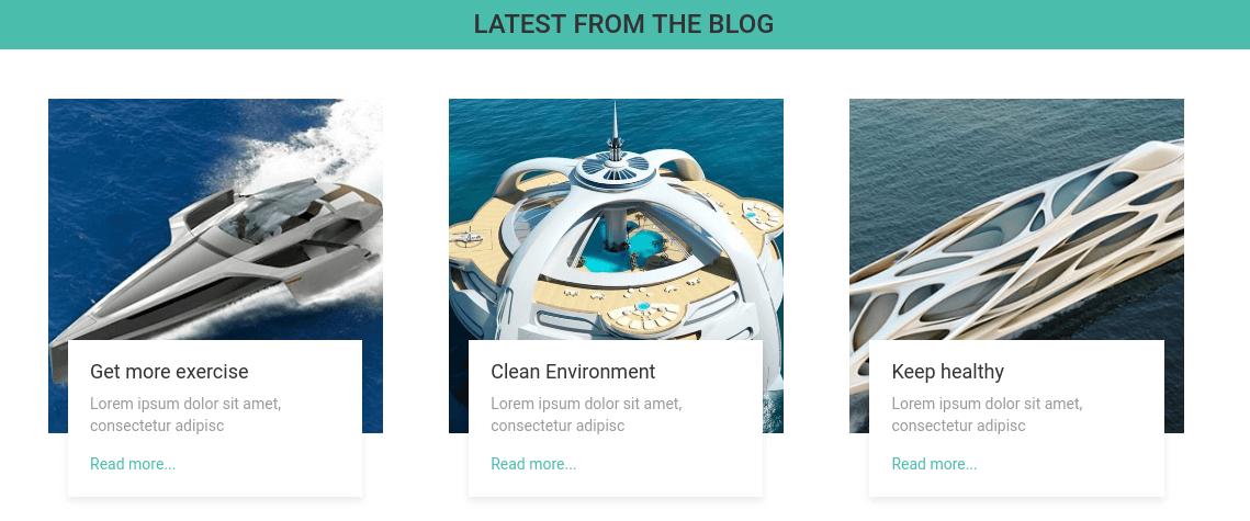 Yacht Website Template blog