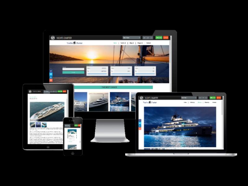 Yacht Website Template demo