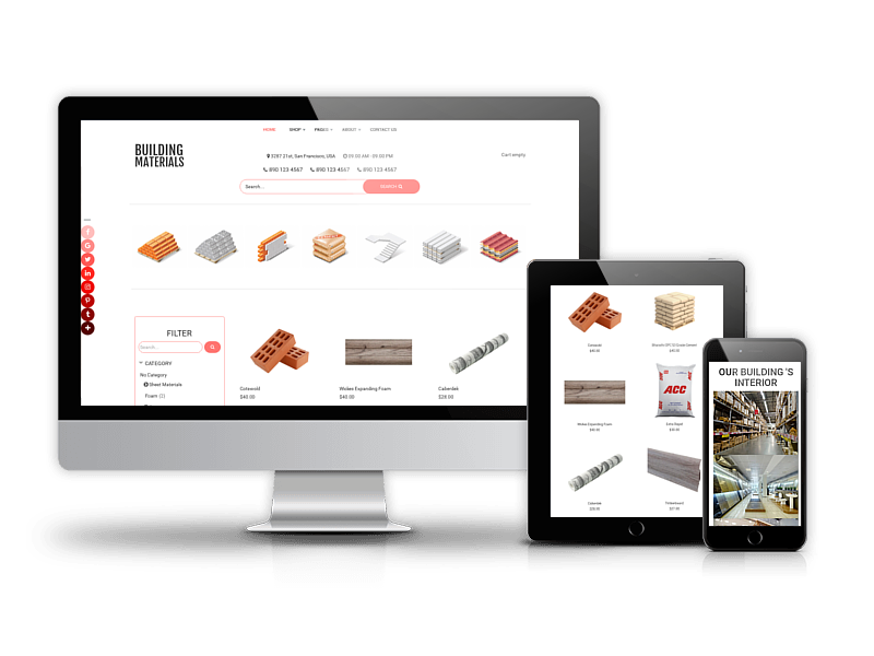 Building Materials - Joomla Construction Materials template