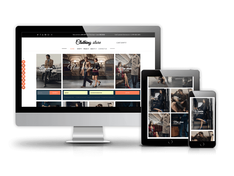 Joomla eCommerce template to run website related to fashion, shopping, clothing