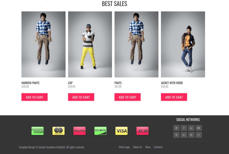 Fashion cast joomla virtuemart template best sales