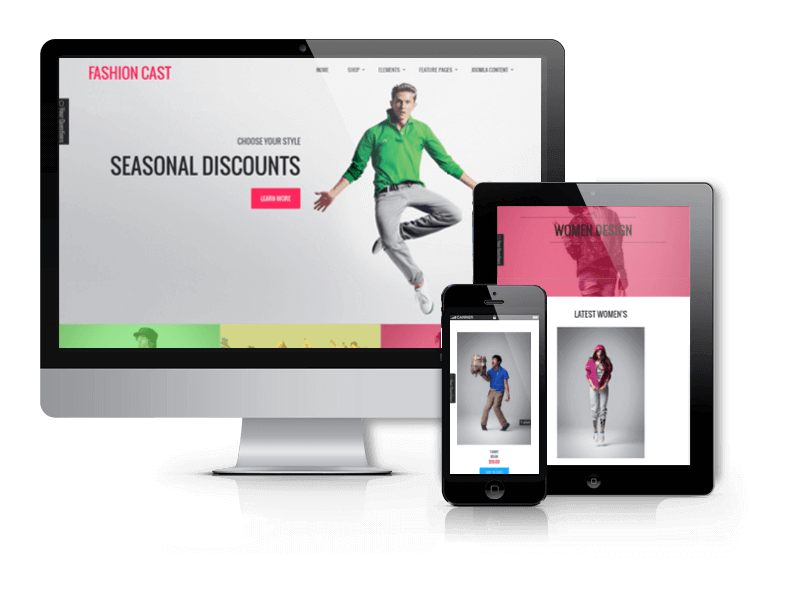 Fashion Joomla eCommerce template Fashion Cast with VirtueMart