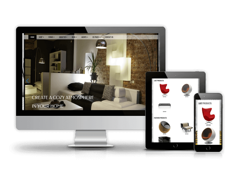 Furniture, Virtuemart eCommerce Joomla template for create shop site