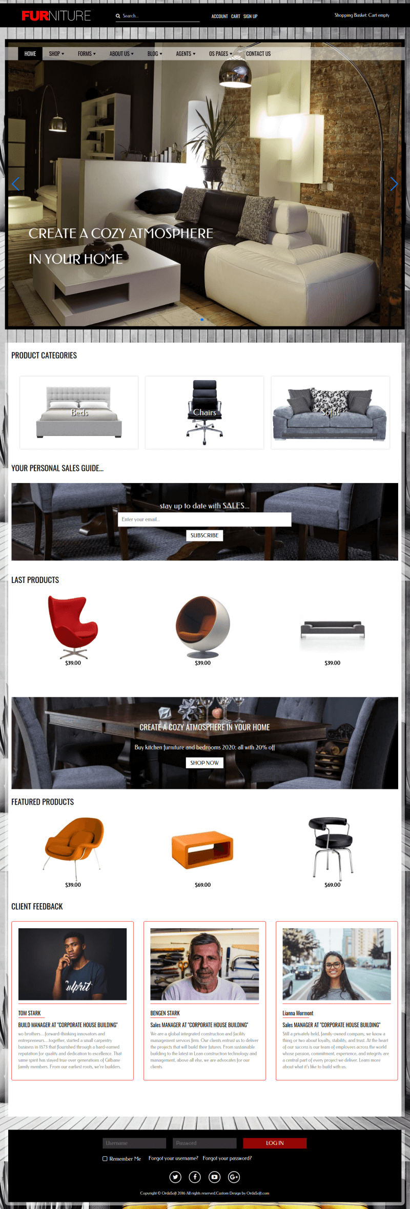 Furniture - Virtuemart Joomla Template