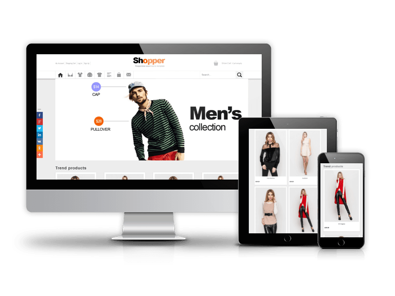 Shopper, Virtuemart Joomla template