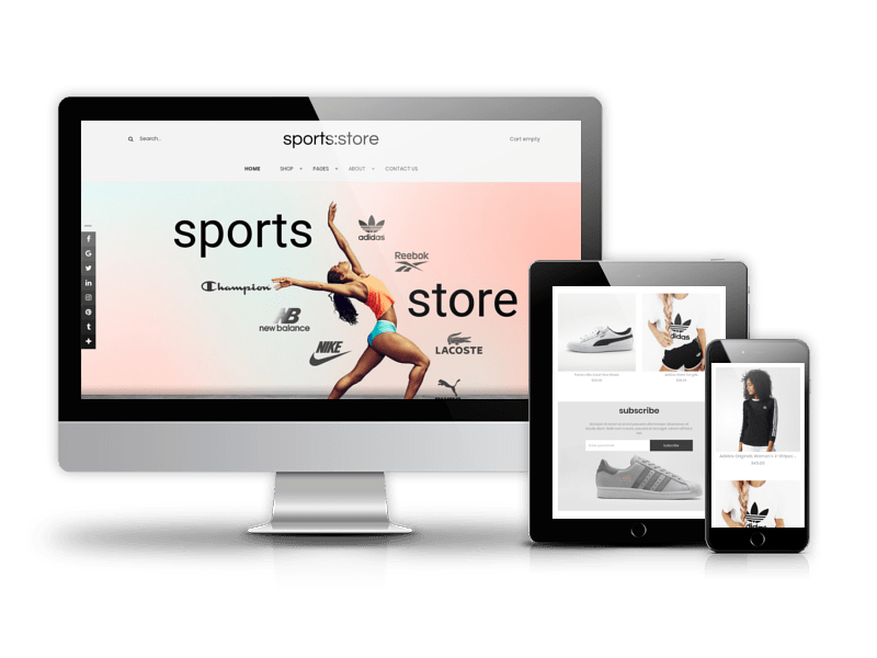 Sports store, Joomla Virtuemart template