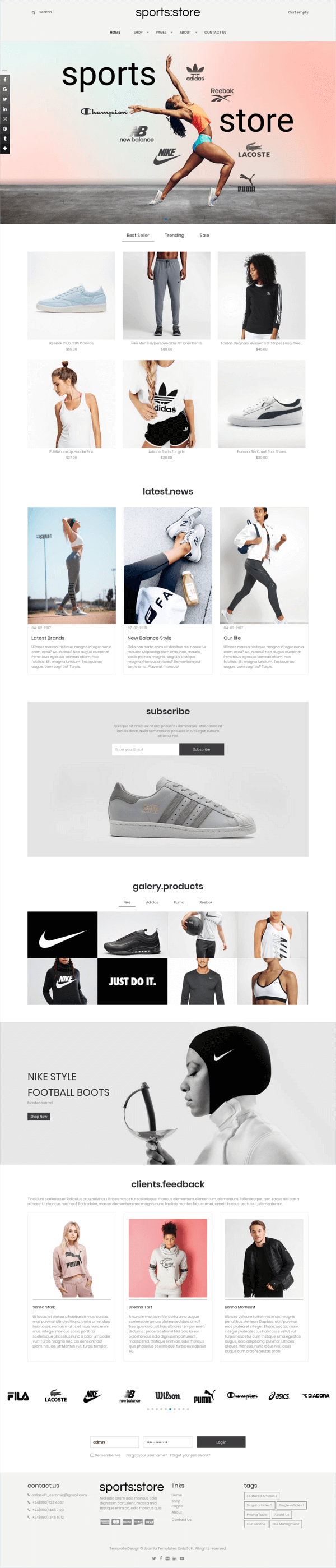 Beauty Supply - Joomla eCommerce template, full screen