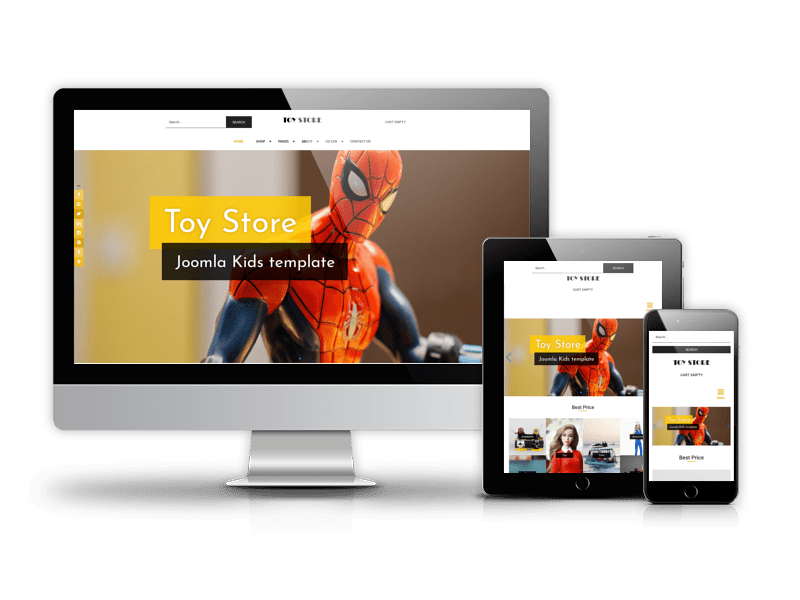 Toy store - Kids Joomla template