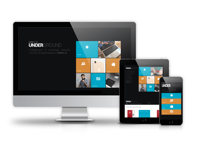 Joomla eCommerce template with Virtuemart Underground