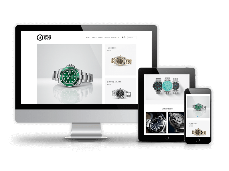 Watches Shop, Free Virtuemart Joomla template