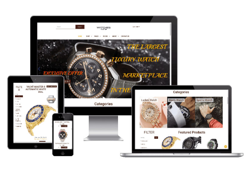 Watches shop, Virtuemart Joomla template