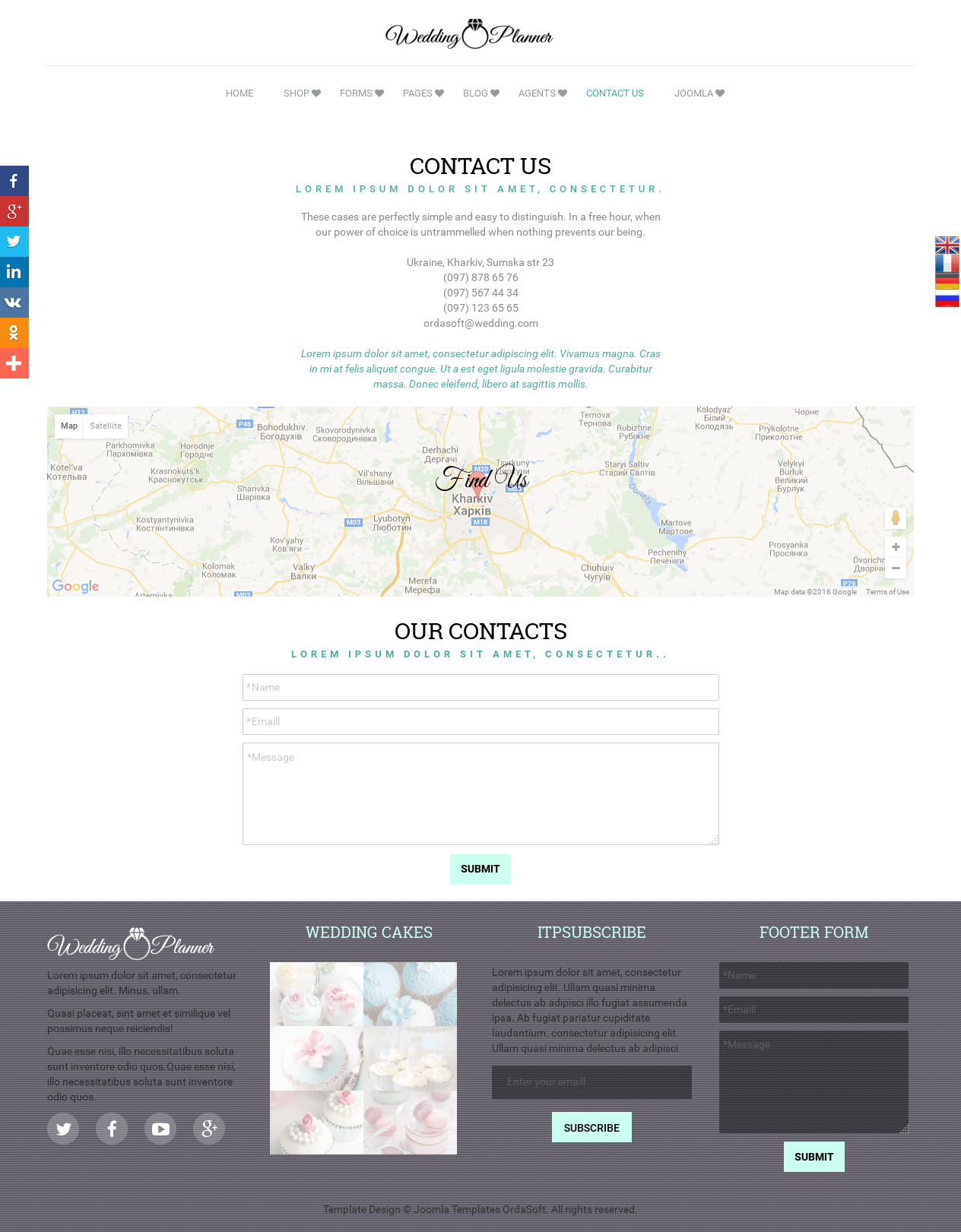 Wedding Planner - Joomla Wedding template