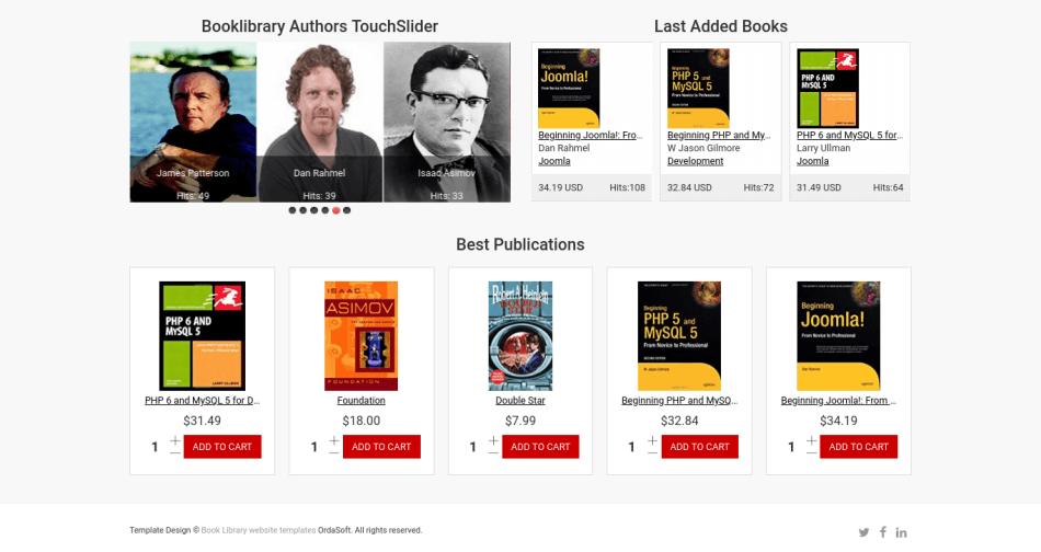 Classic Book Library Joomla Template