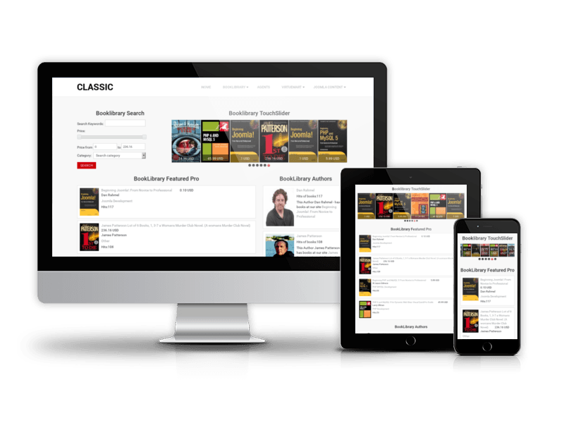 Education joomla templates book library joomla template classic maxwellsz