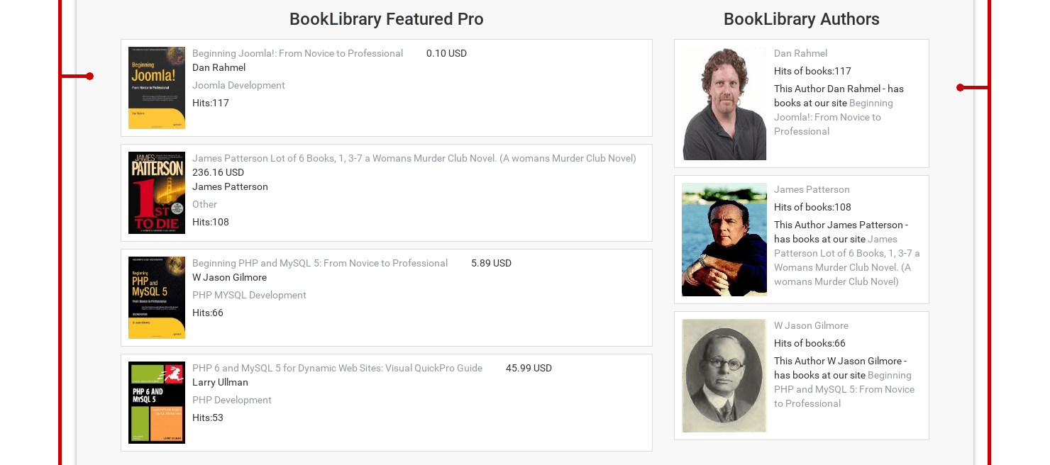 Classic Book Library Joomla Template