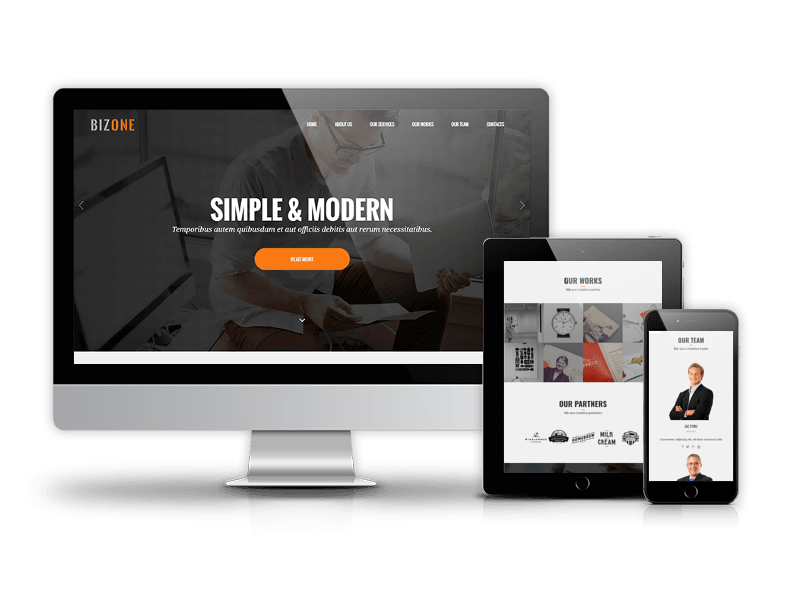 BizOne - Joomla One-page Template