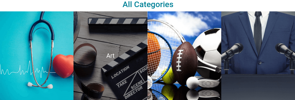 Blog Website Template categories