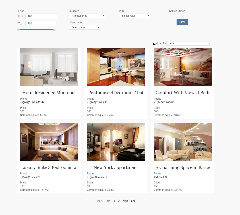 Website Builder Template hotel booking