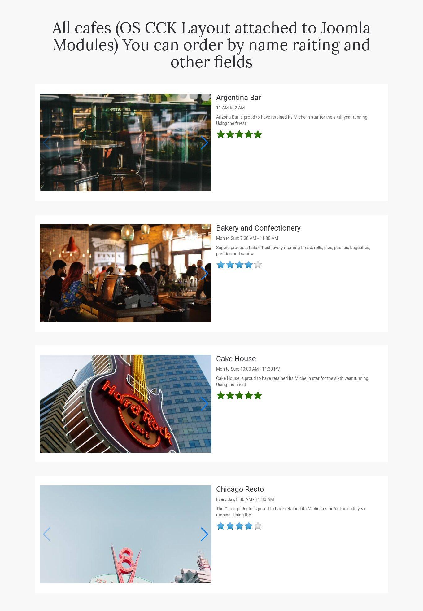 Website Builder Template cafe booking