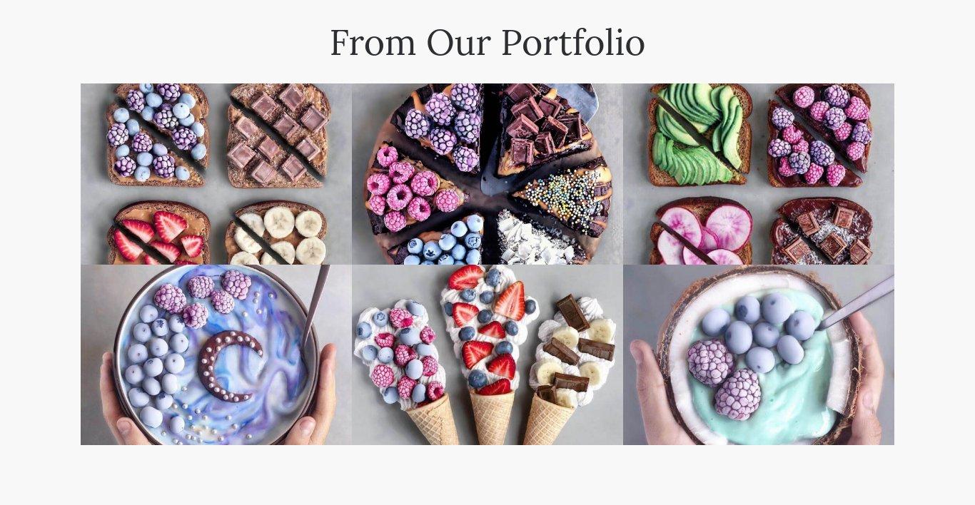 Website Builder Template portfolio