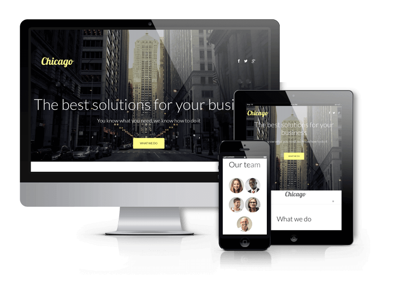 Joomla Business Template Chicago