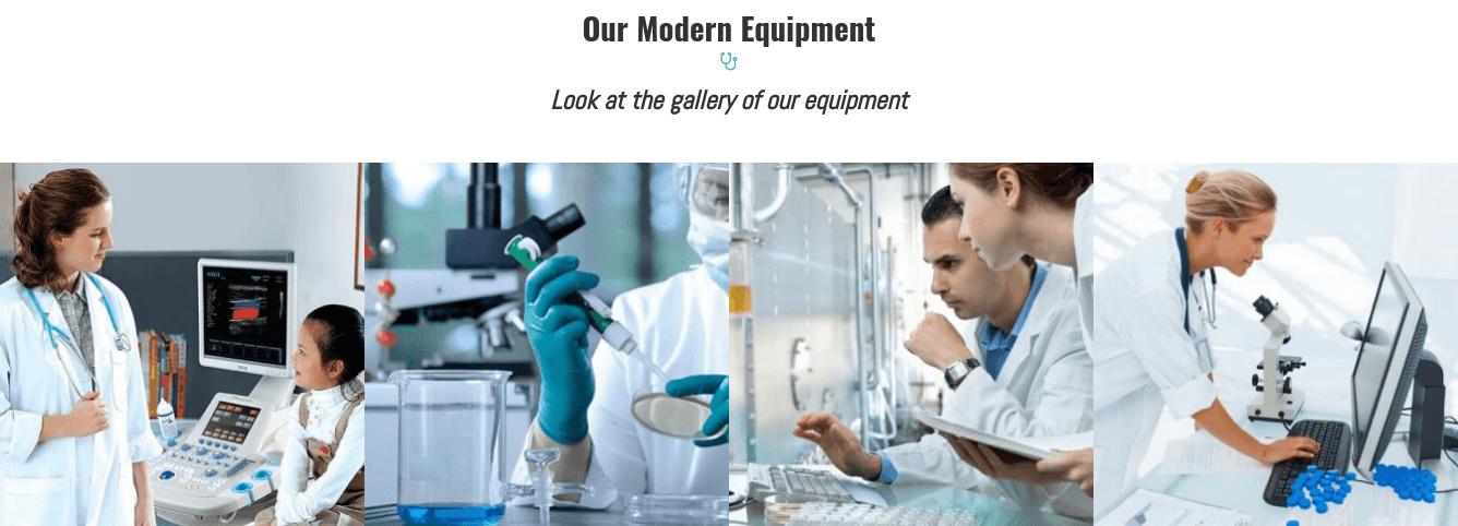 medical website template gallery