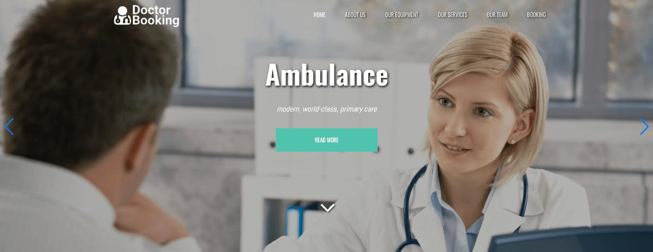 medical website template slider
