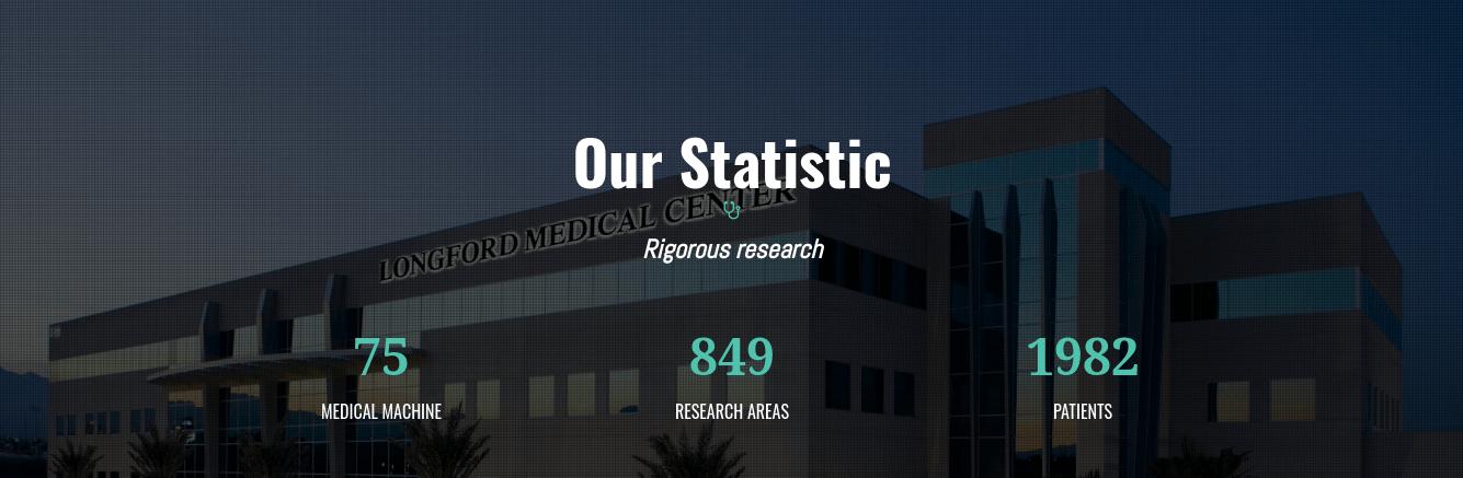 medical website template statistic