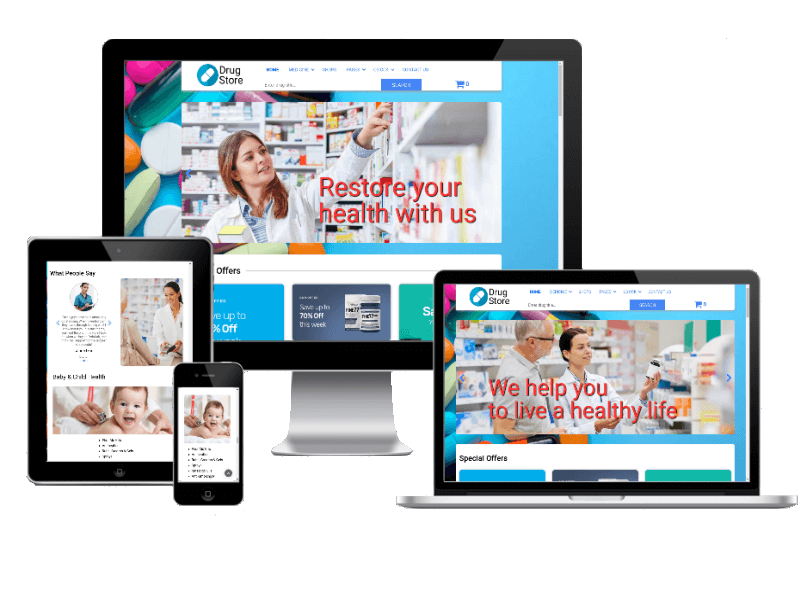 Drugstore, Joomla Pharmacy template
